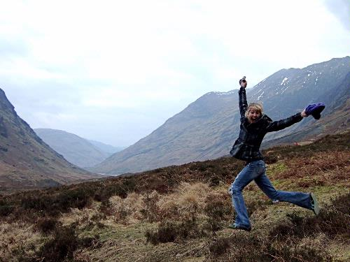 Jumping in the Highlands