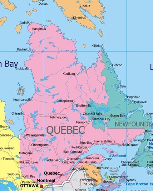 Programs Brochure ISUAbroad - Quebec city canada map